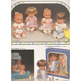 Boneca Antiga Bebe Bebete A Hora Do Banho Estrela 1984