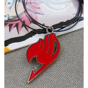 Colar Guilda Fairy Tail Vermelho! Natsu Dragneel