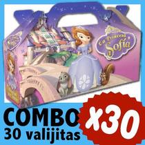 Sofia Princesa Cajita Valijita Bolsita Souvenir Combo X 30