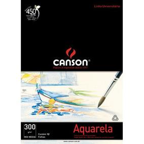 Bl. Papel Aquarela Universal Student Canson A4 300g 12fl