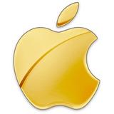 4 Adesivos Maça Da Apple Dourado Cromado Iphone Hiphone