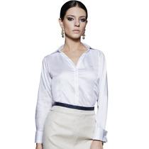 Blusa De Cetim Branca Feminina Principessa Alessandra
