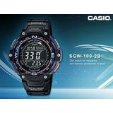 Casio Sgw 100-2av 200mts Wr-brujula-termometro-alarmas-2016