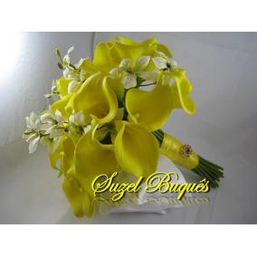 Buquê De Noiva Copo De Leite Amarelo