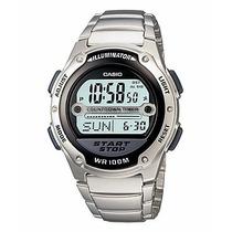 Relógio Casio W-756d-1a C/9 Temporizadore Pulseira Aço