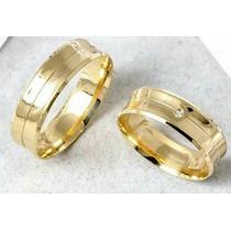Aliança Par 12mm Casamento Noivado Cor Ouro 18k Moeda Antiga