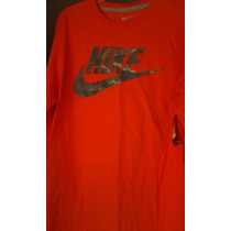 Nike Basketball Playera Manga Larga Naranja L $385 Pesos