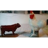 Figuras Decorativas De Ceramica Con Motivos De Animales.