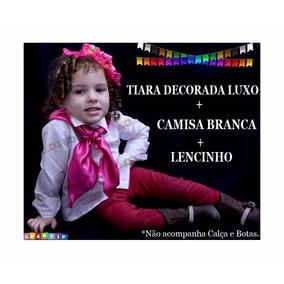 Roupa Country Festa Junina Caipira Junino Infantil Kit3peças