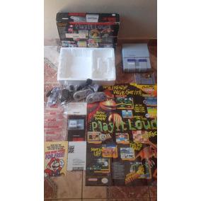 Super Nintendo Na Caixa Colecionador Branquinho Zerado Fita