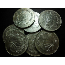 Un Peso Resplandor Plata Ley 0.720 Fecha 1920 A 1945