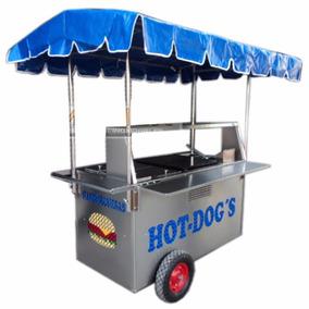 Carro Hotdogs Hamburguesas Carreta Puesto Carrito Acero Inox