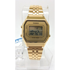 Reloj Casio Para Dama La-680wga- Dorado Iluminator