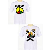 Kit C/ 2 Camisas Personalizadas Banda Reggae Axé Olodum