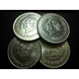 Moneda Hidalgo Grande Cinco Pesos De Plata Ley 0.720