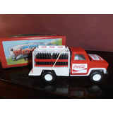 Antigua Pick-up Coca Cola Metal Con Cajones De Botellas Arg.