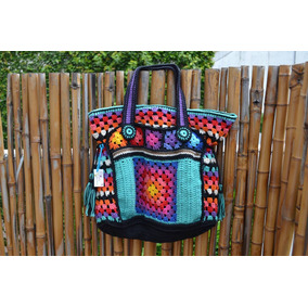 Tejido Al Crochet Carteras Artesanales En Hilo Forradas