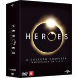 Dvd Coleção Completa Heroes - 1ª A 4ª Temporadas 20 Discos
