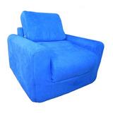 Diversión Muebles Silla Sleeper - Royal Blue Micro Suede