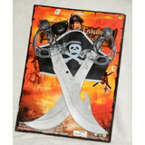 Set De Pirata 2 Espadas Curvas + Parche + Pañuelo