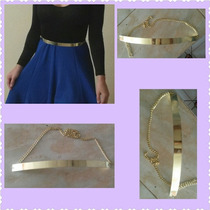 Vestidos Body Faldas Cinturón Metal Dama Ropa Dama