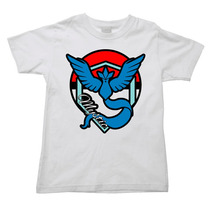 Camiseta Pokemon Go Team Mystic Time Mistico Infantil 03