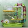 Hamstera 3 P. Rueda Casa Come. Beb Tubos +hamster 55x46x34