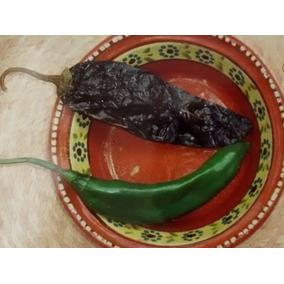 1 Sobre De 220 Semillas De Chile Chilaca O Chile Pasilla