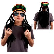 Gorro Rastas Bob Marley Regaae Jamaiquino Caribe Unisex