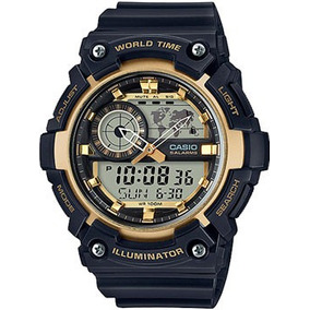 Reloj Casio Aeq200 Analogo Digital 5 Alarmas Illuminator