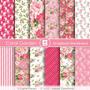 Kit Fondos Shabby Vintage Flores Rosa Dia De Las Madres Boda