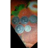 Lote 5 Monedas Españolas Antiguas Con 2 De Regalo