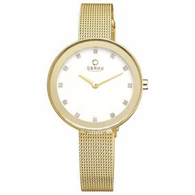 Reloj Obaku V161lxgimg Dorado Original Dama Y Envío Gratis