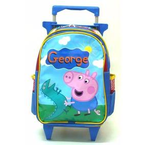 Mochila Infantil George Pig Peppa Pig Rodinhas Tam M- Boleto
