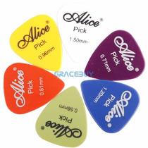 Paletas Alice (60 Peças) P/ Violão Guitarra Acessório Music