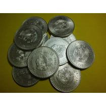 Una Moneda Cuauhtemoc Cinco Pesos Plata Ley 0.900