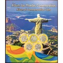 Álbum Para Coleção De Moedas 1 Real - Olimpíadas Rio 2016