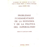 Eugenio Varga: Problemas Fundamentales De La Economía...