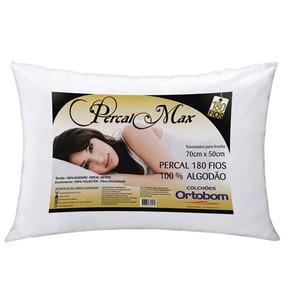 Travesseiro Percal 180 Fios Fibra Siliconada - Ortobom