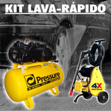 Kit Lava Rapido Bomba Pistao Alta Pressao + Compressor Se10