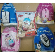 Mouse Usb Optico De Disney Princesas,mickey Mouse,cars Nuevo