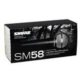 Microfone Shure Sm58 Sm 58 Lc - Frete Gratis C Garantia