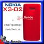 Forro Nokia X3-02 Rojo Silicona Goma Protector De Pantalla