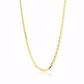Corrente Cordão Masculino Piastrine 60cm Em Ouro 18k-750