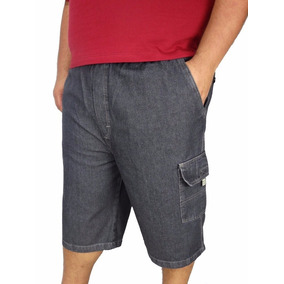 Bermuda Jeans Masculina Plus Size Tamanho Grande Até Nº 68