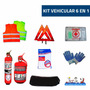 Matafuego Auto1kg Tarjeta Patente Kit De Segur 6en1vtv Regl