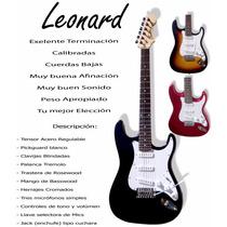 Guitarra Leonard Strato+palanca Varios Colores Housemusic