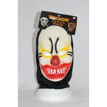Máscara Látex Palhaço Mal Borracha Halloween Capuz Fantasia