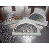 Servilleteros Repujados En Aluminio Nuevos Artesanales