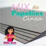 Mix De Papelão Cinza Para Cartonagem - 16 Placas